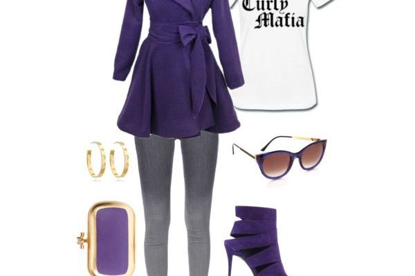 Natural Style: Purple Trench & Curly Mafia