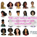 THE LAZY GIRLS METHOD TO LOOKING AFTER NATURAL HAIR