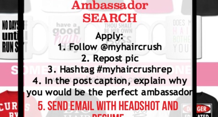 Myhaircrush Brand Ambassador Search