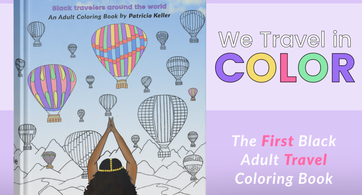 The FIRST black travel coloring book